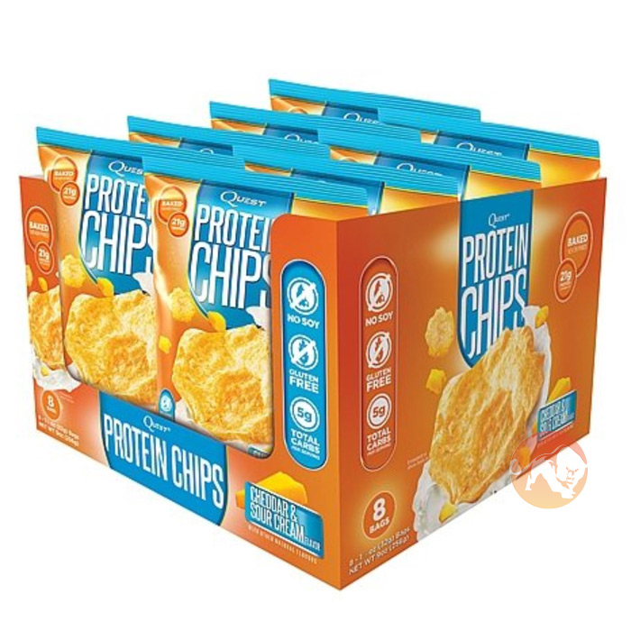 Quest Protein Chips 8 Pack Cheddar & Sour Cream