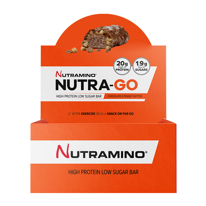 Nutra-Go Protein Bar 12 Bars Chocolate & Peanut Butter