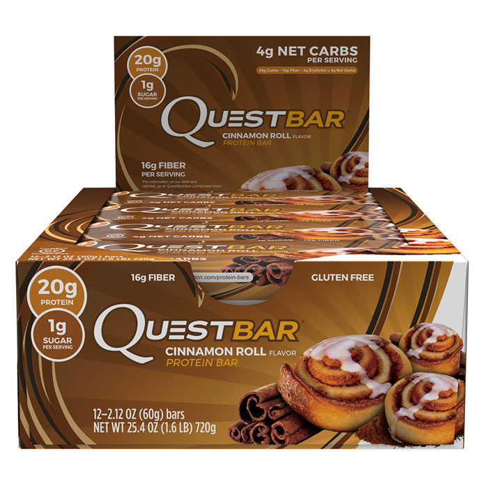 Quest Bars 12 Cinnamon Roll
