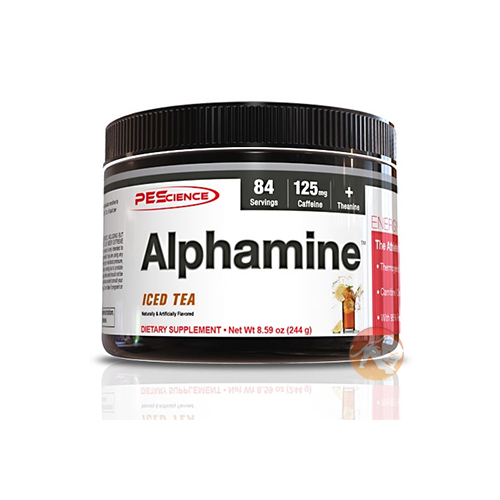 Image of PEScience Alphamine 84 Servings Iced Tea