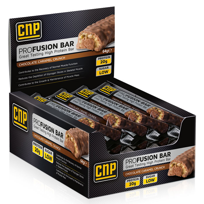 Image of CNP Professional Pro Fusion Bar 12 Bars Chocolate Caramel Crunch