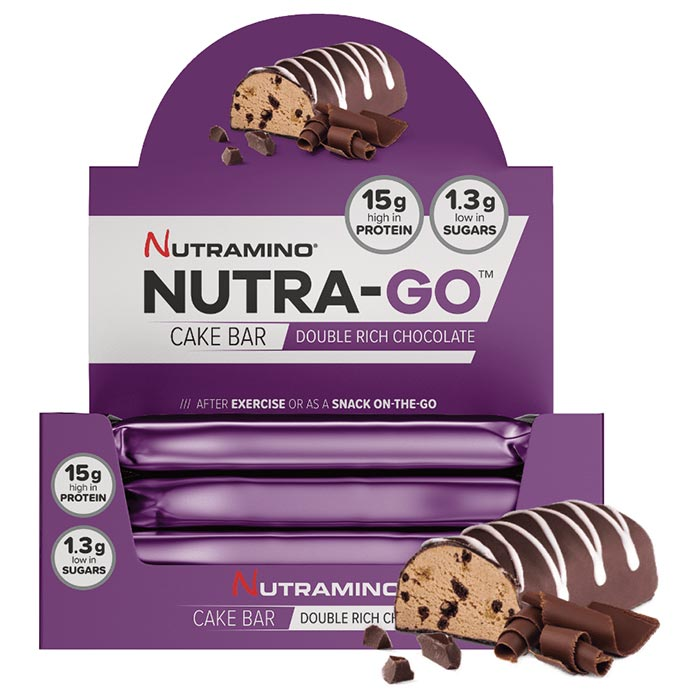 Image of Nutramino Nutra-Go Cake Bars 16 Bars Double Rich Chocolate