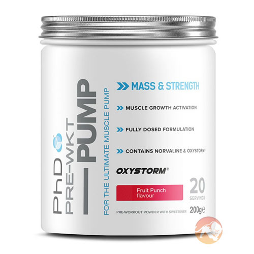 Pre-Wkt Pump 20 Servings Fruit Punch