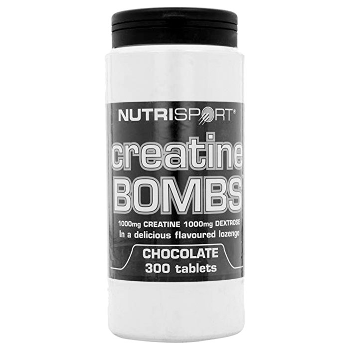 Image of Nutrisport Creatine Bombs 300 Tablets Chocolate