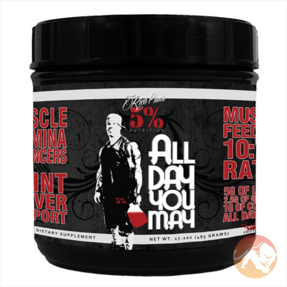 Image of 5% Rich Piana ALLDAYYOUMAY 30 Servings - Blue Raspberry