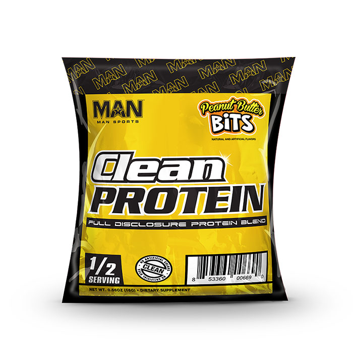 Image of Man Sports Clean Protein Trial Serving Peanut Butter Bits