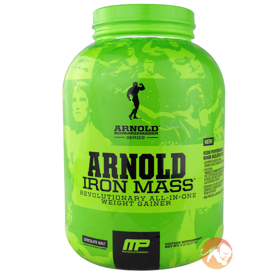 Image of Arnold Schwarzenegger Series Iron Mass 5lb (2.27kg)-Banana Cream