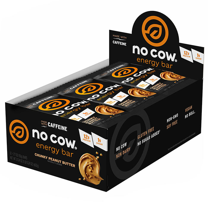 No Cow Energy Bar 12 Bars Chocolate Peanut Butter