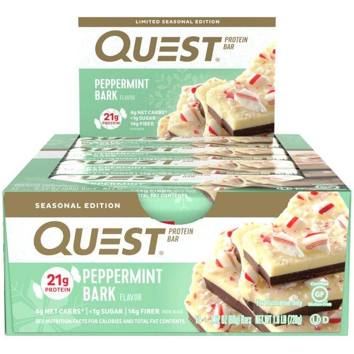 Image of Quest Nutrition Quest Bars 12 Bars Peppermint Bark