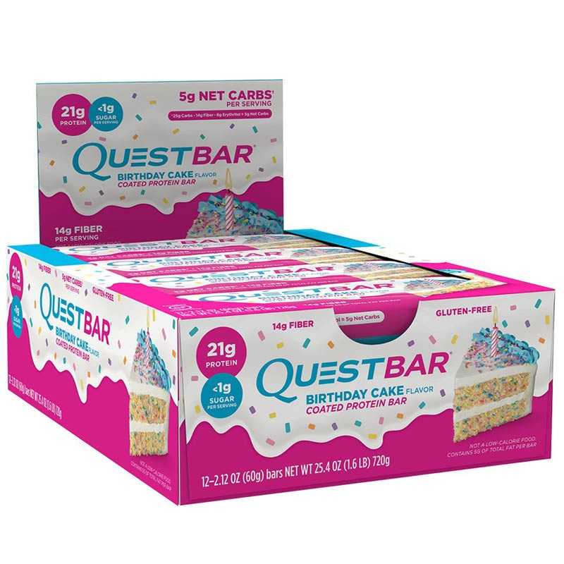 Image of Quest Nutrition Quest Bars 12 Bars Birthday Cake