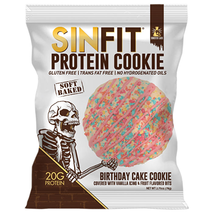 Sinfit Protein Cookie 1 Cookie Birthday Cake