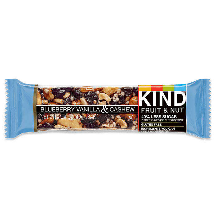 Image of Kind Snacks Kind Bars Fruit and Nut 1 Bar Blueberry Vanilla and Cashew