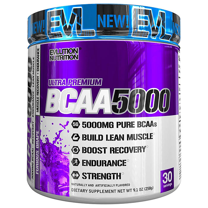 Image of Evlution Nutrition BCAA5000 30 Servings Grape