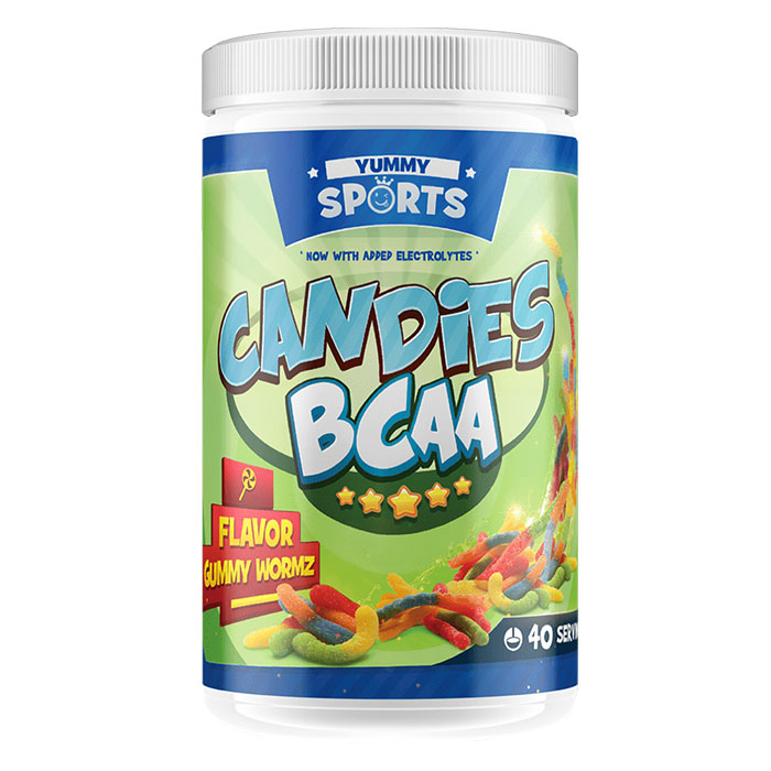 Image of Yummy Sports Candies BCAA 40 Servings Gummy Wormz Kingdom