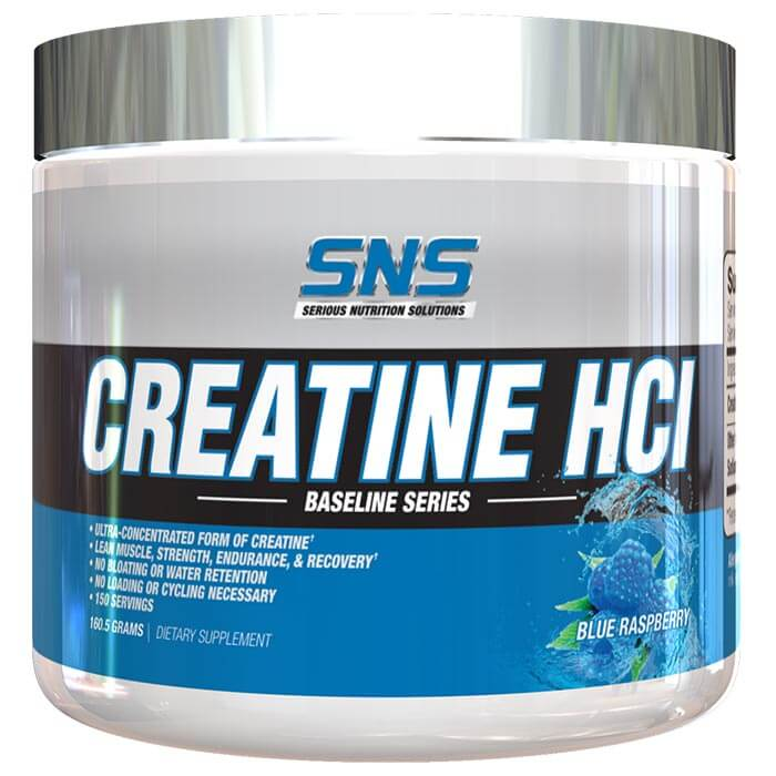 Image of Serious Nutrition Solutions Creatine HCL 153g Blue Raspberry