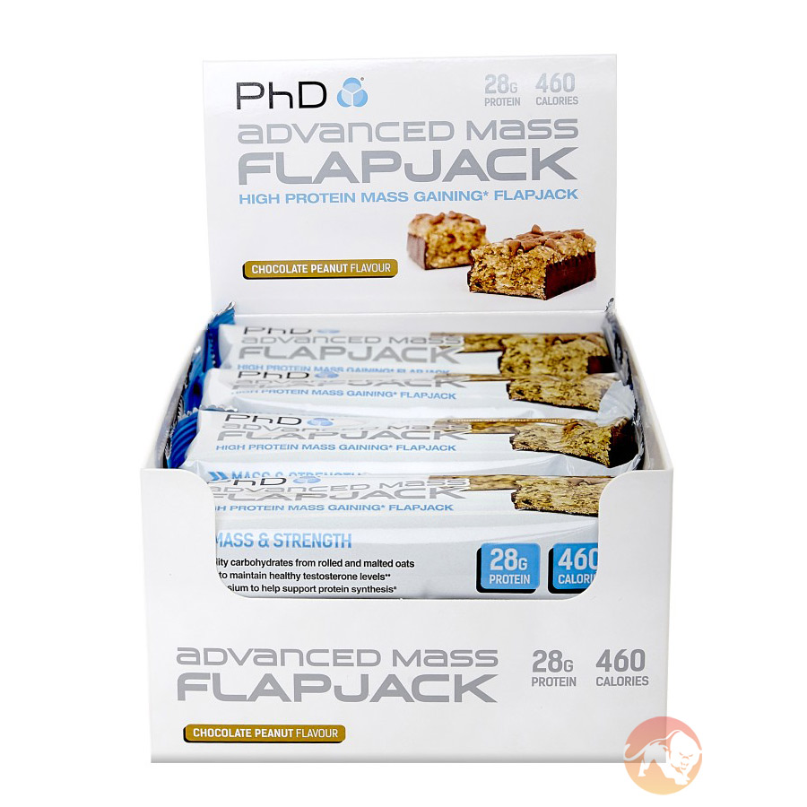 Advanced Mass Flapjacks 12 bars - Chocolate Peanut Butter