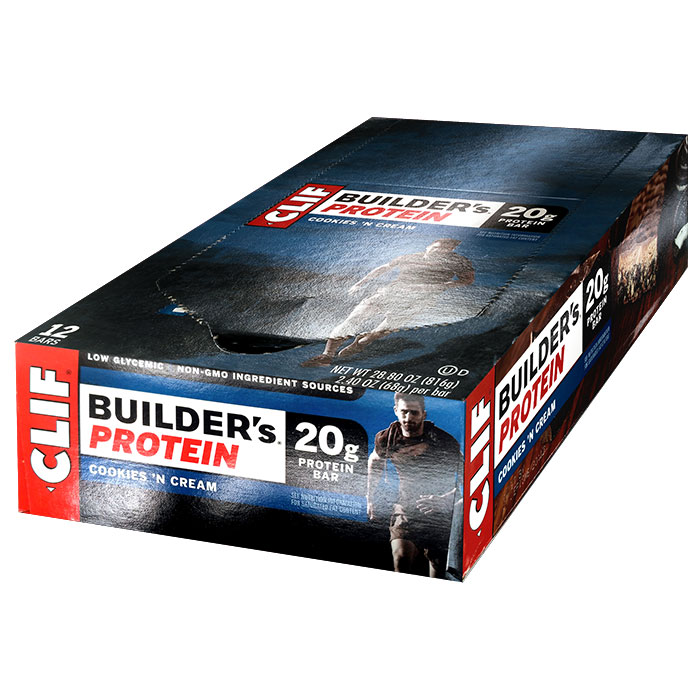 Image of Clif Bar Builder's Bar 12 Bars Cookies and Cream