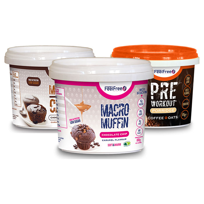 Image of Feel Free Nutrition Macro Muffin Chocolate Chip Caramel