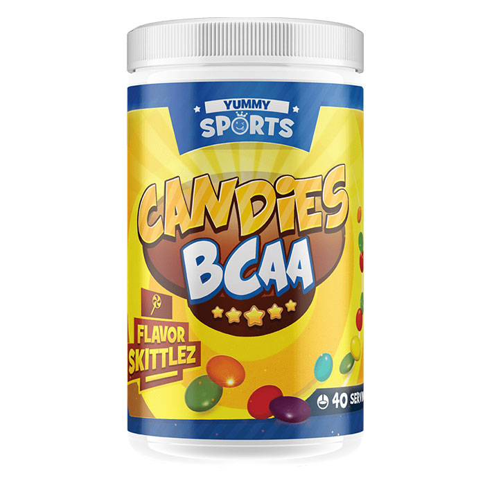 Image of Yummy Sports Candies BCAA 40 Servings Skittlez