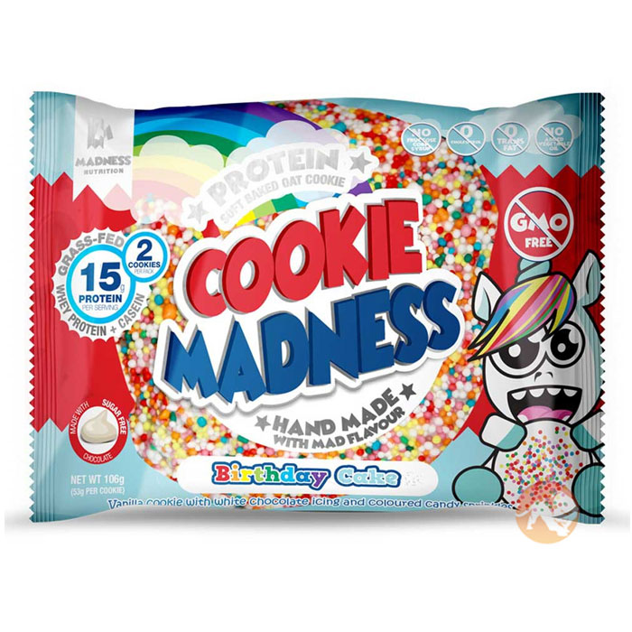 Image of Madness Nutrition Cookie Madness 12 Cookies Birthday Cake