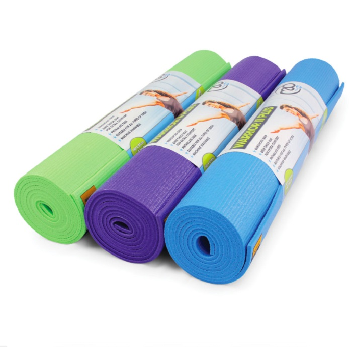 Image of Fitness Mad Warrior Yoga Mat Blue 4mm