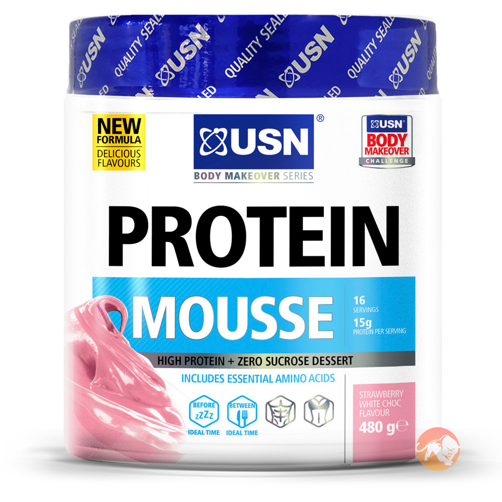 Protein Mousse 480g-Strawberry White Chocolate