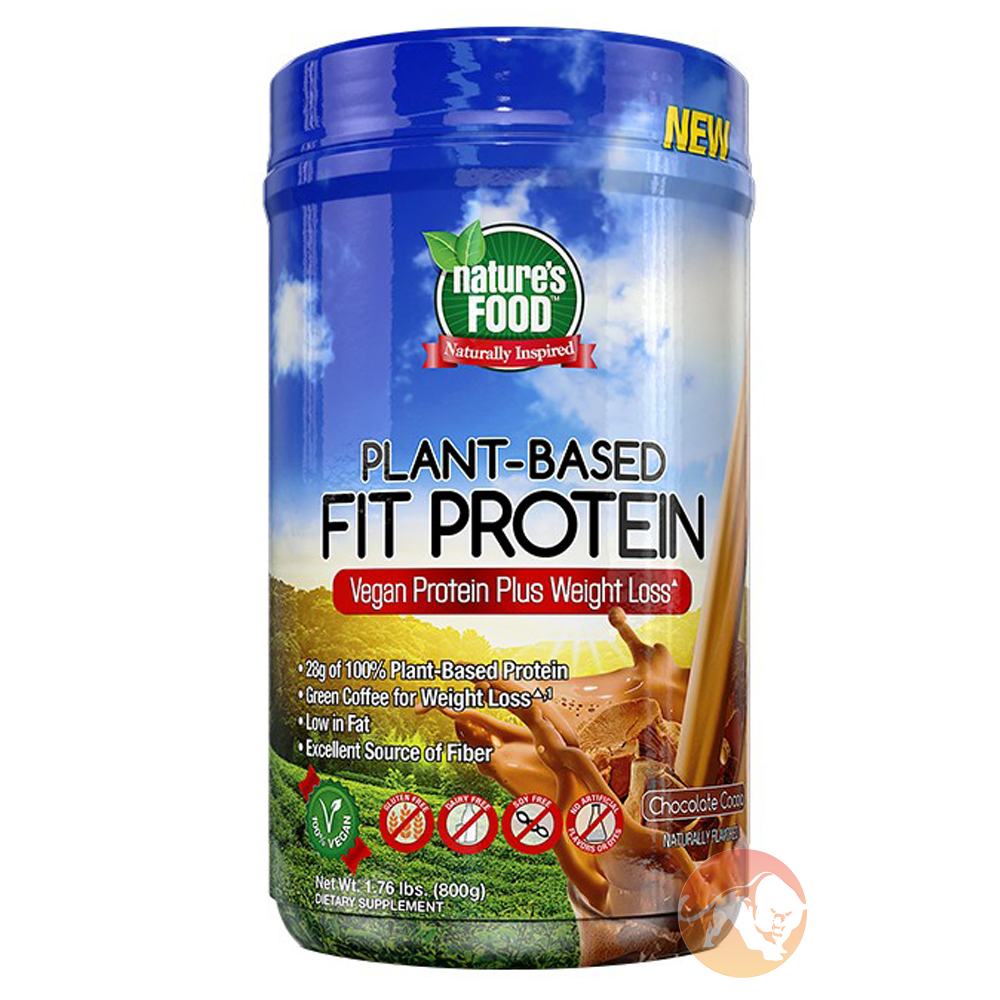 Image of Nature's Food Plant Based Fit Protein 800g Chocolate Cocoa