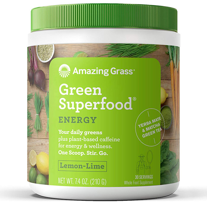 Green SuperFood Energy 30 Servings Lemon Lime