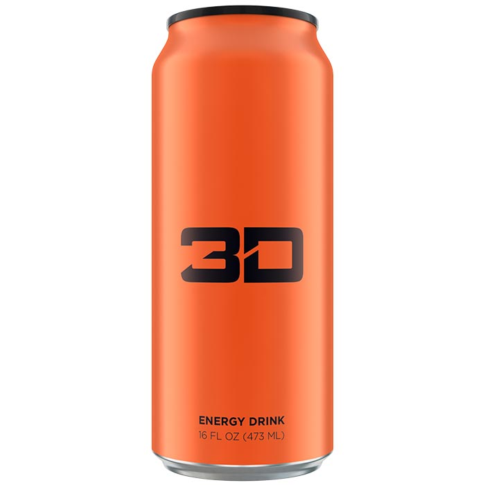 Image of 3D Energy 3D Energy Drink 1 Can Orange