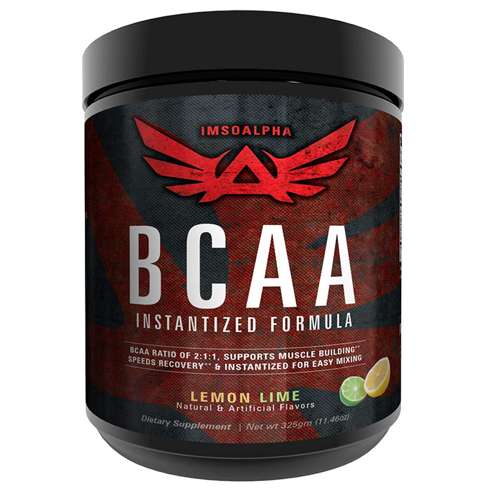 Image of IMSOALPHA Instantised BCAA + Glutamine 50 Servings-Fruit Punch