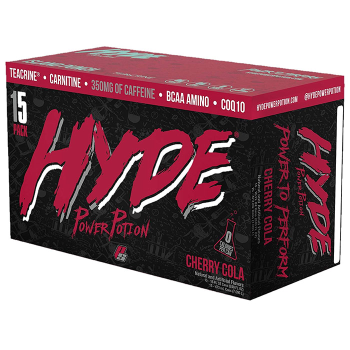 Image of Prosupps Hyde Power Potion 15 Cans Cherry Cola