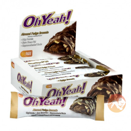 Image of Oh Yeah Nutrition Oh Yeah! Bar 45g 12 Bars Almond Fudge Brownie