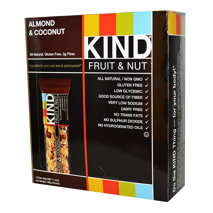 Image of Kind Snacks Kind Bars Fruit and Nut 12 Bars Almond and Coconut
