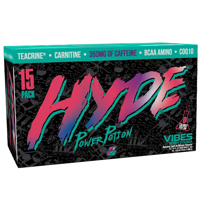 Image of ProSupps Hyde Power Potion 15 Cans Vibes Berry Colada