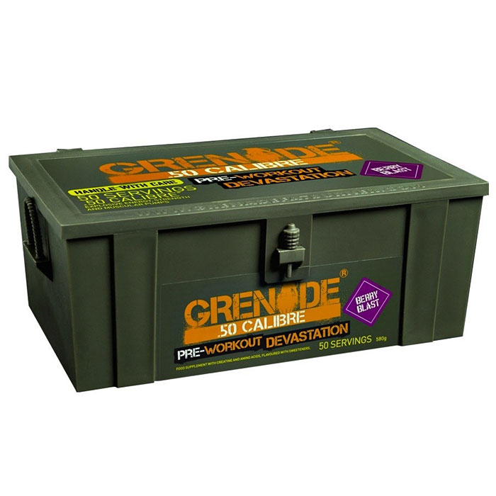 Grenade .50 Calibre Ammo Box 50 Servings Berry Blast