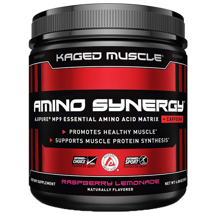 Image of Kaged Muscle Amino Synergy 30 Servings Raspberry Lemonade