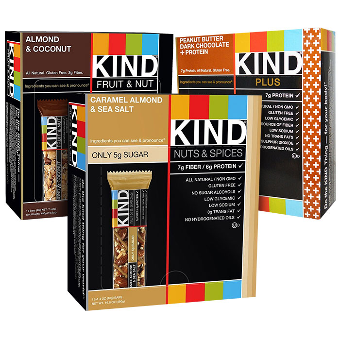 Kind Bars Nuts and Spices 12 Bars Caramel Almond and Sea Salt