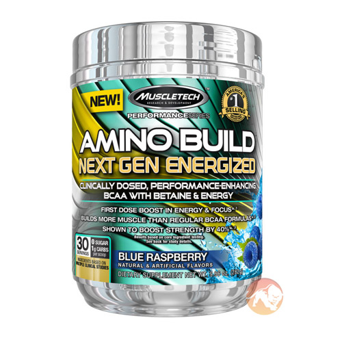 Image of Muscletech Amino Build Next Gen Energized 30 Servings Blue Raspberry