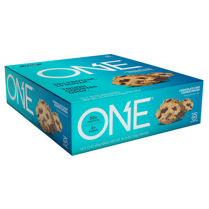 Image of Oh Yeah Nutrition Oh Yeah One Bar 12 Bars Chocolate Chip Cookie Dough