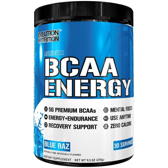 Image of Evlution Nutrition BCAA Energy 30 Servings Blue Razz