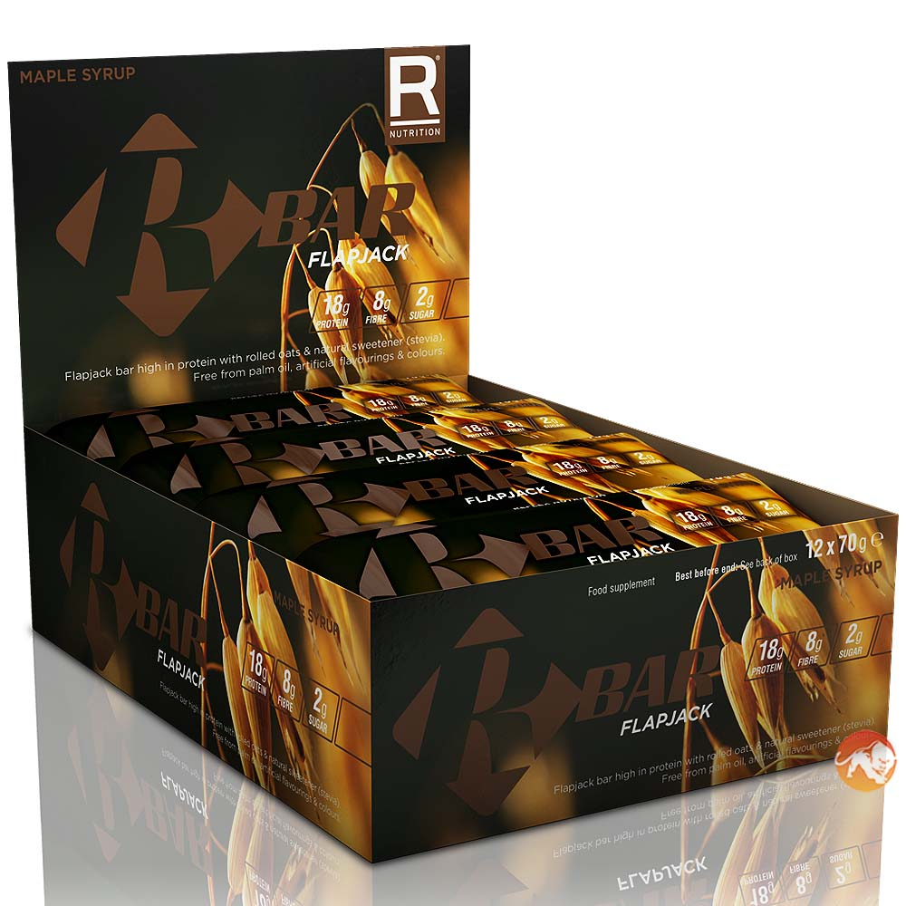 R Bar Flapjacks 12 Bars-Maple Syrup