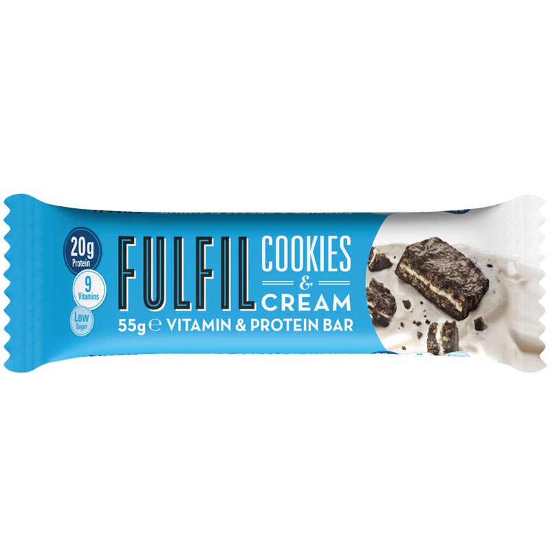 Image of Fulfil Fulfil Vitamin and Protein Bar 1 Bar Cookies and Cream
