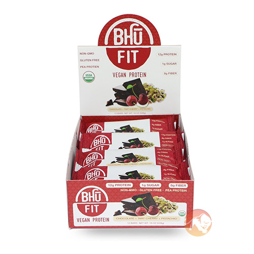 Image of BHU Foods Bhu Fit Organic Vegan Protein Bar 12 Bars Chocolate Chip Cookie Dough