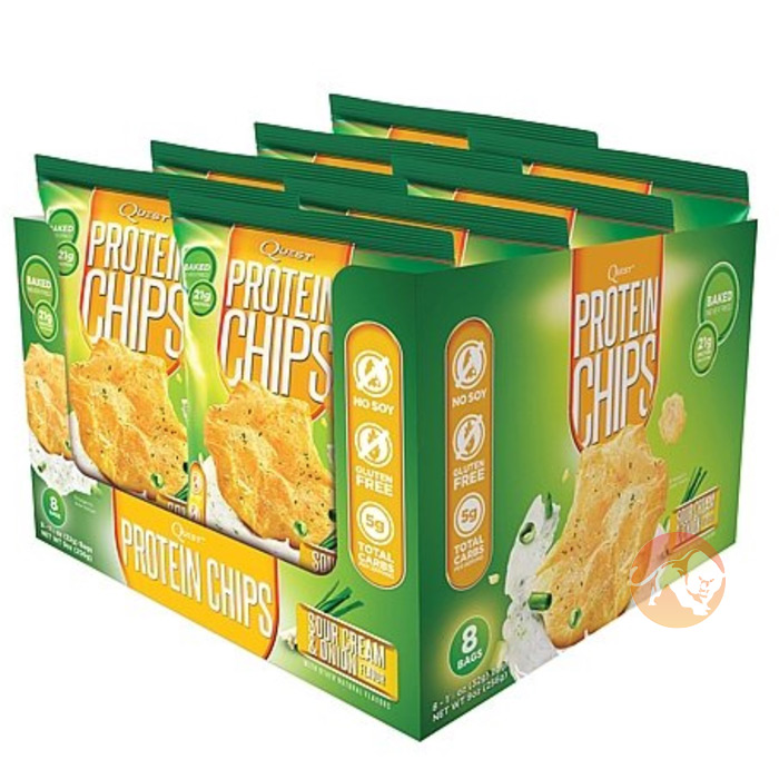 Quest Protein Chips 8 Pack Sour Cream & Onion
