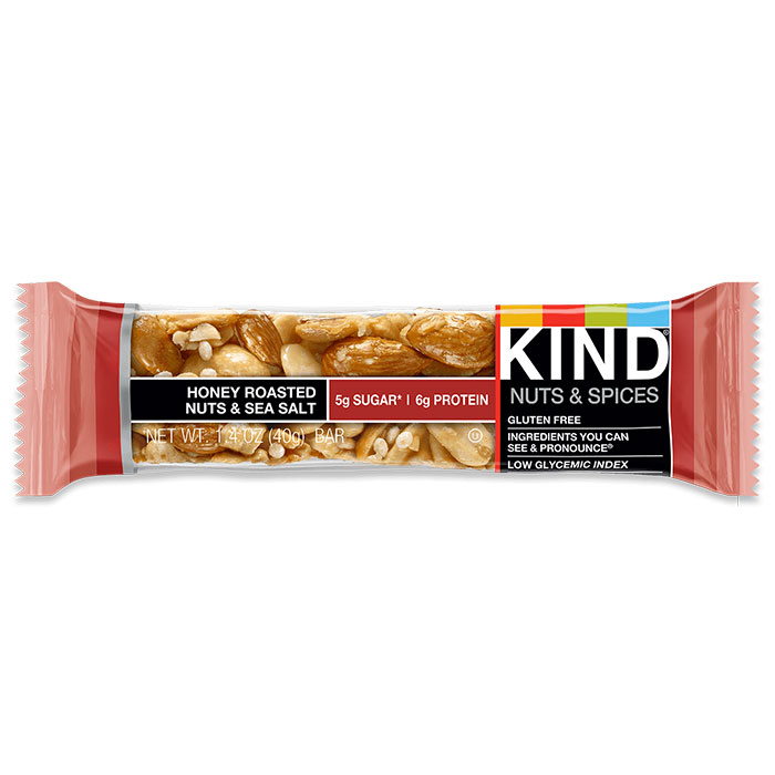 Kind Bars Nuts and Spices 1 Bar Honey Roasted Nuts and Sea Salt