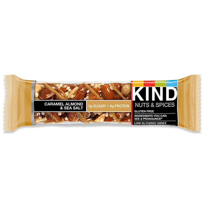 Kind Bars Nuts and Spices 1 Bar Caramel Almond and Sea Salt