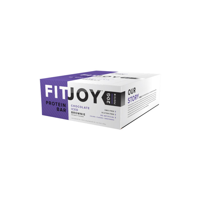 Image of Fitjoy Fitjoy Bars 1 Bar Chocolate Iced Brownie