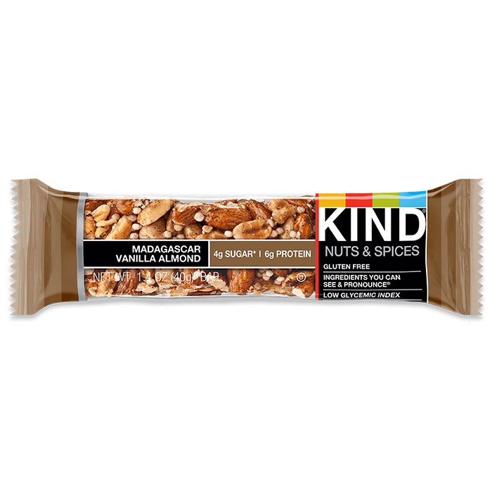 Kind Bars Nuts and Spices 1 Bar Madagascar Vanilla Almond