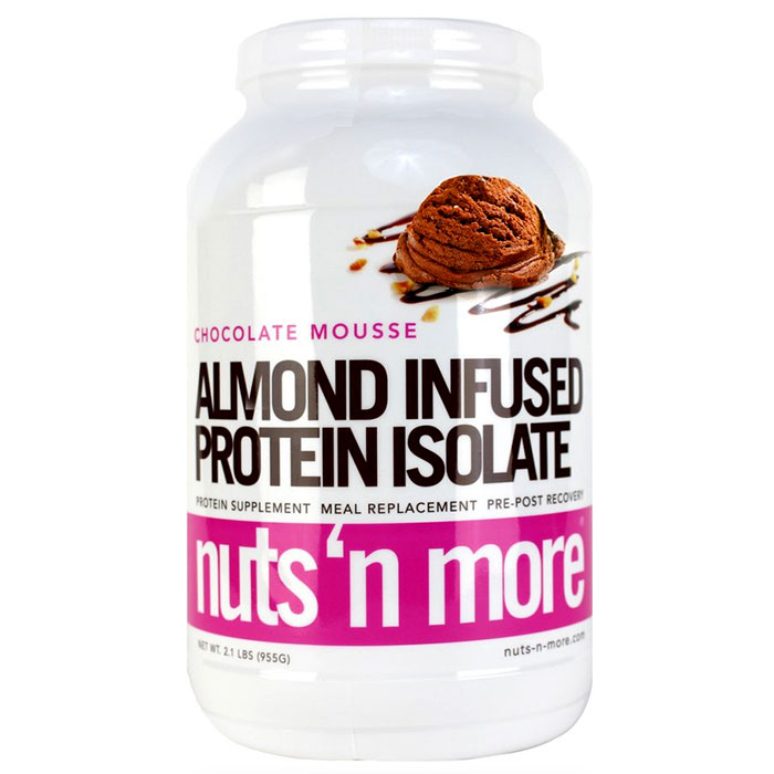 Image of Nuts'n more Almond Infused Protein Isolate 955g Chocolate Mousse