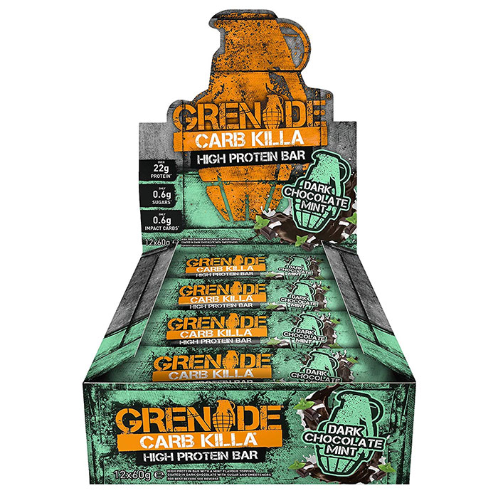 Image of Grenade Carb Killa Bars 12 Bars Dark Chocolate Mint
